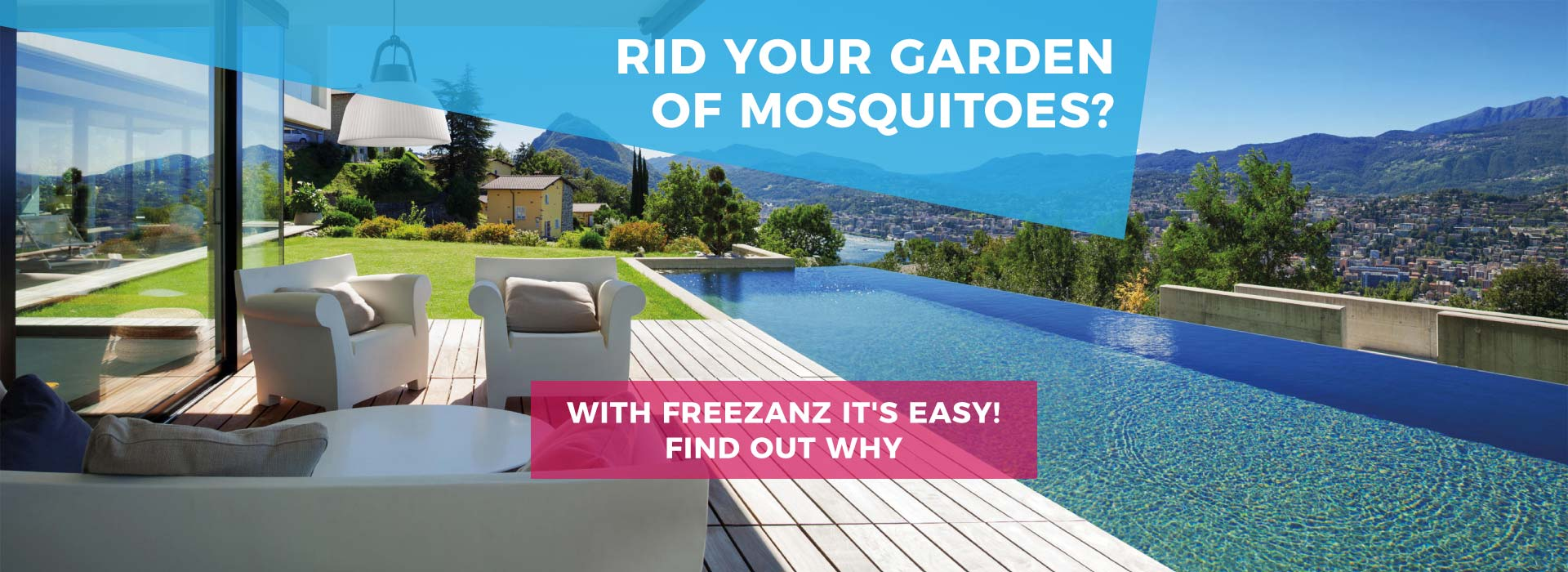 Mosquito misting systems for gardens